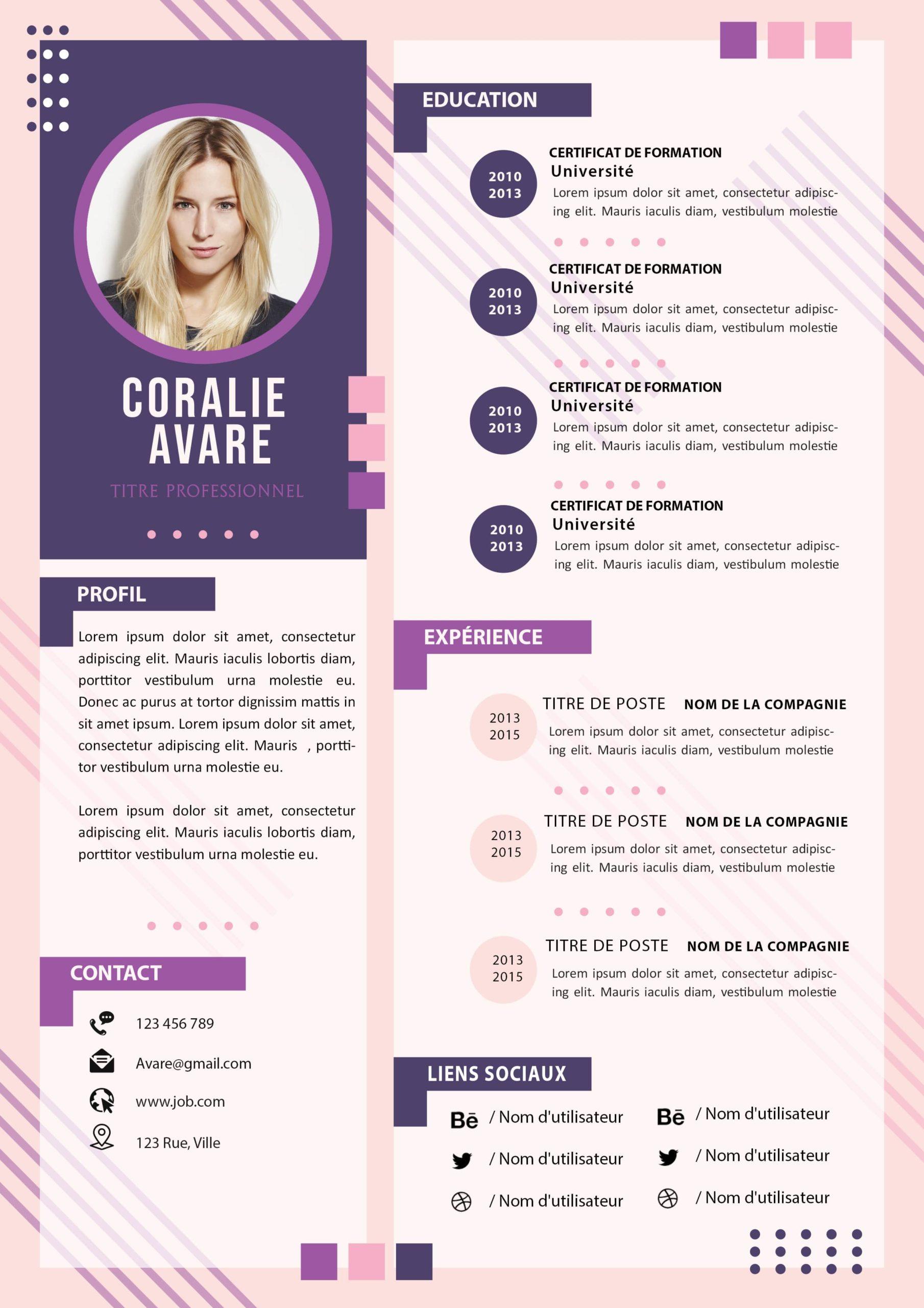 Modèle De CV Original À Télécharger